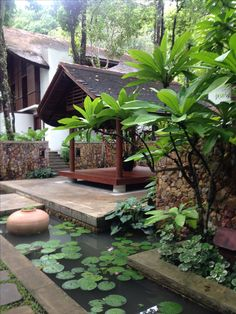 100 Fun Backyard Landscaping Idea How About An Exotic, Tropical Backyard Resort 40 Tropical Backyard, Tropical Landscaping, Tropical Houses, Backyard Landscaping, Fun Backyard, Landscaping Ideas, Landscape Design Plans, Water Garden, Planer