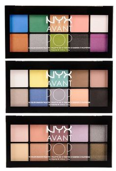 New NYX Avant Pop eyeshadow palettes, need to get these palettes