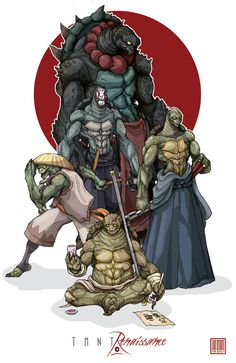 TMNT: Renaissance by MurderousAutomaton on DeviantArt Comic Character, Character Concept, Character Design, Concept Art, Arte Dc Comics, Bd Comics, Ninja Turtles Art, Teenage Mutant Ninja Turtles, Fullhd Wallpapers