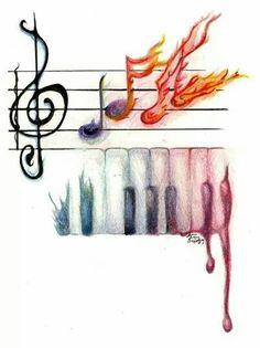 65 Ideas For Music Arte Ideas Artworks Colour Music Pics, Music Artwork, Music Images, Music Pictures, Artwork Pictures, Music Stuff, Sound Of Music, Kinds Of Music, Music Love