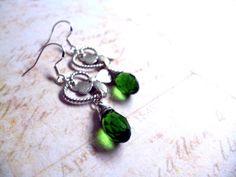 #emerald #green #jewelry #earrings