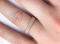 3d printed pearl ring available at my shop. This ring was printed in raw brass #ring #printring #brassring #brass #bandring #3dprint #jewel #minimal  #weddingring #engagementring