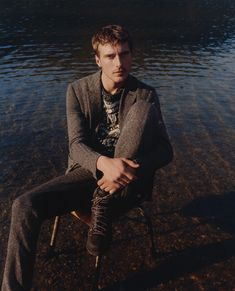 French model Clément Chabernaud fronts the Fall/Winter 2016 campaign of Missoni, photographed by Harley Weir.