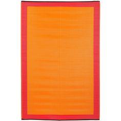 Prater Mills Indoor/ Outdoor Reversible Orange/ Red Rug - Overstock™ Shopping - Big Discounts on Outdoor Rugs