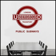 LONDON  WALL DECAL  Underground Sign  Old Fashion by Citystic, $25.00