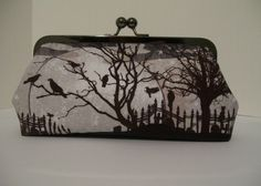 Zombie's Graveyard Clutch Handbag by AddyGirlAccessories