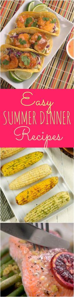 Summertime, and the livin' is easy. Keep it that way with one of these summer dinner ideas — that don't involve slaving over a hot stove or heating up the whole kitchen. Summer produce stars in these recipes, which are light enough for sweltering days but satisfying enough for dinner. Plus, they're so quick and simple we promise you won't lose your cool. So savor the taste of summer with these easy summer dinner recipes.