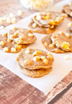 mango & white chocolate chip cookies. these were so yummy! don't bother w/ the fancy silpat liners, just make sure to butter the cookie sheets. i also added a 1/4 cup of sliced almonds- mmmm