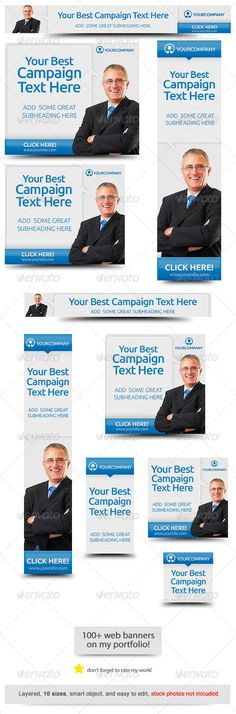 Corporate PSD Banner Ad Template 5 - Banners & Ads Web Template PSD ...