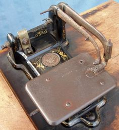 Wheeler and Wilson sewing machine Antique Sewing Machines, Irons, Furniture Projects, Antiques, Antiquities, Antique, Iron, Vintage Sewing Machines, Old Stuff