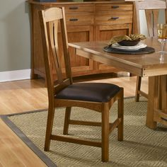 Cattail Wood Bungalow Dining Chairs Only (Set of 2) in Amber by A-America   Humble Abode