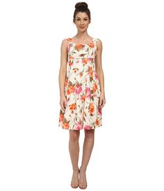 $57.99 ~ London Times Printed Cotton Sateen Fit and Flare