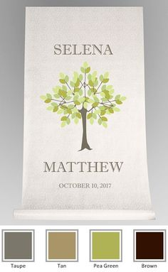Personalized Little Tree of Love Aisle Runner
