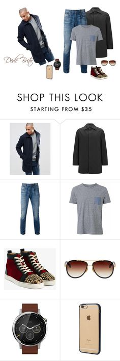 """Sem título #1866"" by dedebrito ❤ liked on Polyvore featuring Produkt, Knutsford, Levi's, Witchery, Christian Louboutin, Dita, Motorola, Incase, men's fashion and menswear"