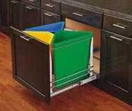 Rev-A-Shelf - Quad Soft-Close Bottom Mount Recycle Centers