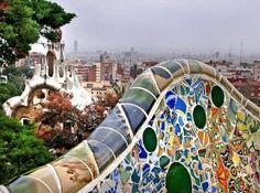 Vista de Barcelona desde la Terraza del Parque Guell