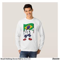 Brazil Dabbing Soccer Ball T-Shirt - Heavyweight Pre-Shrunk Shirts By Talented Fashion & Graphic Designers - #sweatshirts #shirts #mensfashion #apparel #shopping #bargain #sale #outfit #stylish #cool #graphicdesign #trendy #fashion #design #fashiondesign #designer #fashiondesigner #style