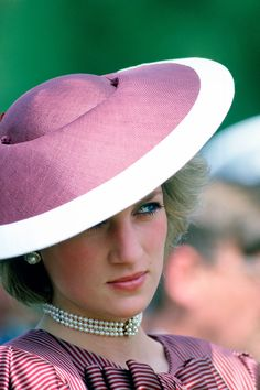 Diana Princess Of Wales Wearing A Flying Saucer Style Hat By Milliner Frederick Fox For A Visit To Anzio In Italy Get premium, high resolution news photos at Getty Images Lady Diana Spencer, Spencer Family, Princess Diana Jewelry, Princess Diana Fashion, Princess Diana Pictures, Diane, Princess Of Wales, Real Princess, Royal Fashion