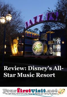 Updated review with new photos, better organization ~ Disney's All-Star Music Resort from yourfirstvisit.net