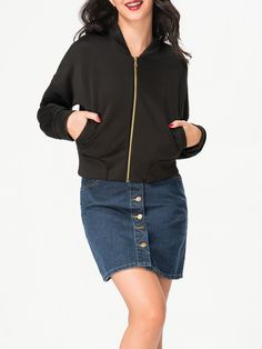 Band Collar Pocket Plain Jacket Only $15.95 USD More info...