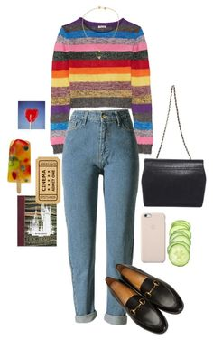 """sunday funday #outofmycomfortzone"" by sarahelisabetha ❤ liked on Polyvore featuring Miu Miu, WithChic, Black Apple, Daisy Knights and Gucci"