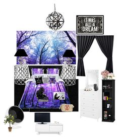 """Nightmares room, for rp :p"" by nightmare-proxy on Polyvore featuring interior, interiors, interior design, home, home decor, interior decorating, Dalyn, ExceptionalSheets, Oliver Gal Artist Co. and The Rise and Fall"