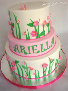Spring Birthday Cake by springlakecake, via Flickr