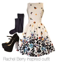 Rachel Berry inspired outfit/ Glee by tvdsarahmichele on Polyvore featuring Sperry, Christian Louboutin, rachelberry, glee and leamichele