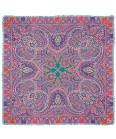 Liberty London Green Lasenby Cashmere and and Silk-Blend Paisley Scarf