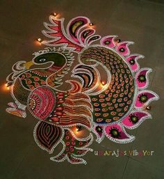 Get the best and latest Diwali rangoli design in here. Create these rangoli designs to ring in the festivals and special occasions with pomp and gaiety. Indian Rangoli Designs, Rangoli Designs Latest, Simple Rangoli Designs Images, Rangoli Designs Flower, Rangoli Patterns, Colorful Rangoli Designs, Rangoli Ideas, Flower Rangoli, Beautiful Rangoli Designs
