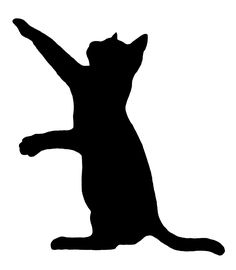 free cat silhouette clip art image clip art silhouette of a cat rh pinterest com cat clip art black and white cat clipart free