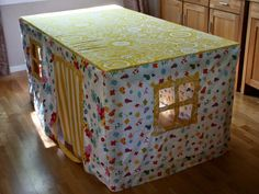 Play house for the kids - made to fit our dining room table