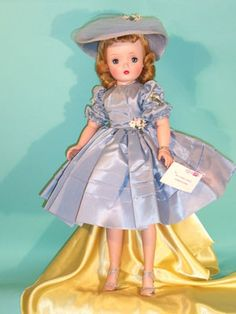 Cissy in Powder Blue Taffeta circa 1956
