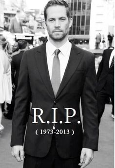 Paul Walker, I will miss you.