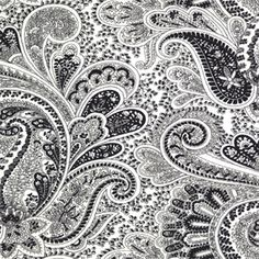 Paisley Black/White by Premier Prints - Drapery Fabric - SW4896 - Fabric By The Yard At Discount Prices