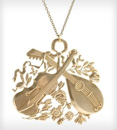 Spirit of the Strings Brass Necklace   Jewelry   Christine Domanic   Scoutmob Shoppe   Product Detail