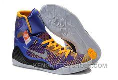 8dbd8af32118 Buy Cheap Nike Kobe 9 2014 High Tops Blue Yellow Black Mens Shoes Super  Deals BSCztA