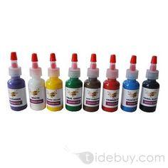 Kit de Tinta para Tatuajes con 8 botellas 1/2 OZ