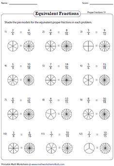 Equivalent fraction worksheets contain fraction bars, pie models, finding missing numbers, writing and representing equivalent fractions and more. Fractions Worksheets, Kids Math Worksheets, Math Multiplication, Math Helper, Division Math Games, Fraction Activities, Math Graphic Organizers, Equivalent Fractions, Kids Study