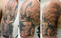 300 movie half sleeve tattoo
