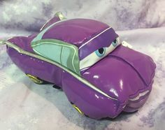 "Disney Pixar Cars Purple 6"" Polyester Glossy Plush Toy No Noise Holly Shiftwell #Disney"