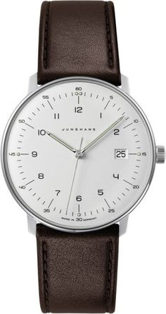 @junghansgermany  Watch Max Bill Gents Quartz #bezel-fixed #bracelet-strap-leather #brand-junghans #case-depth-7-9mm #case-material-steel #case-width-38mm #date-yes #delivery-timescale-7-10-days #dial-colour-silver #gender-mens #luxury #movement-quartz-battery #official-stockist-for-junghans-watches #packaging-junghans-watch-packaging #style-dress #subcat-max-bill #supplier-model-no-041-4461-01 #warranty-junghans-official-2-year-guarantee #water-resistant-waterproof