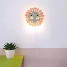 NURSERY AND KIDS LIGHTING - GLICÉE PRINTS - ETHICALLY PRODUCED IN THE UK – And so to Shop White Light, Light Up, Kids Bedroom, Bedroom Decor, Flower Lights, Kids Lighting, Flower Wall, Chalk Paint, Wall Lights