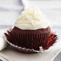 Red Velvet Cupcakes with White Chocolate Filling and Mascarpone Frosting - a cupcake I'd take any day of the week!