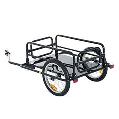 Aosom Wanderer Folding Bicycle Bike Cargo Storage Cart and Luggage Trailer with Hitch - Black - Cheaper and better quality than anything I could find locally. Bike Cargo Trailer, Motorcycle Trailer, Cargo Trailers, Motorcycle Tires, Drift Trike, Camping Cart, Accessoires Kayak, Bicycle Cart, Velo Cargo