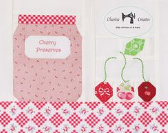 Jam Jars and Fruit a Paper Piecing Pattern by ChariseCreates