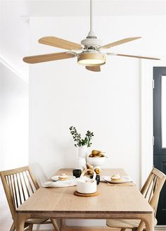 Alex is a classic and luxurious ceiling fan thatis the perfect piece to blend with any decor. 5 reversible blades for a different look! Remote control included. Energy-saving LED light bulb (included). Approximately measures 41'' x 22'' with a base of 5''. Made from high quality iron and wood. Free Worldwide Shipping & 100% Money-Back Guarantee Living Room Kitchen, Kitchen Decor, Portfolio Web Design, Led Lampe, Futuristic Architecture, Postmodernism, Simple House, Minimalist Design, My Dream Home