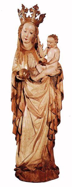 UNKNOWN MASTER, Hungarian Madonna c. 1420 Painted wood, height 139,5 cm Magyar Nemzeti Galéria, Budapest