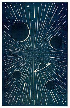 Illustration Poster Design with Type {love the effects} // Constellations by Mike Lemanski Free Poster, Dm Poster, Space Illustration, Graphic Design Illustration, Graphic Art, Buch Design, Art Design, Constellations, Constellation Art