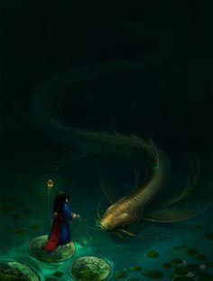 princess and fish by sandara